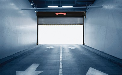 large commercial overhead door