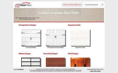 screenshot of custom garage door design software